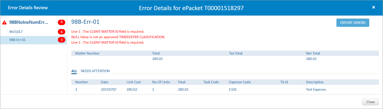 Understanding the Upload Invoices Page